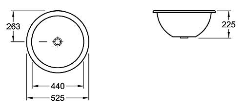Loop Round Under-Counter Basin 525mm