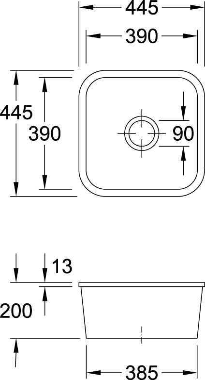 Cisterna 50 Undercounter Sink