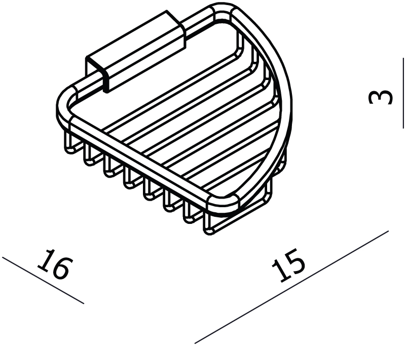Universal Small Triangular Soap Basket