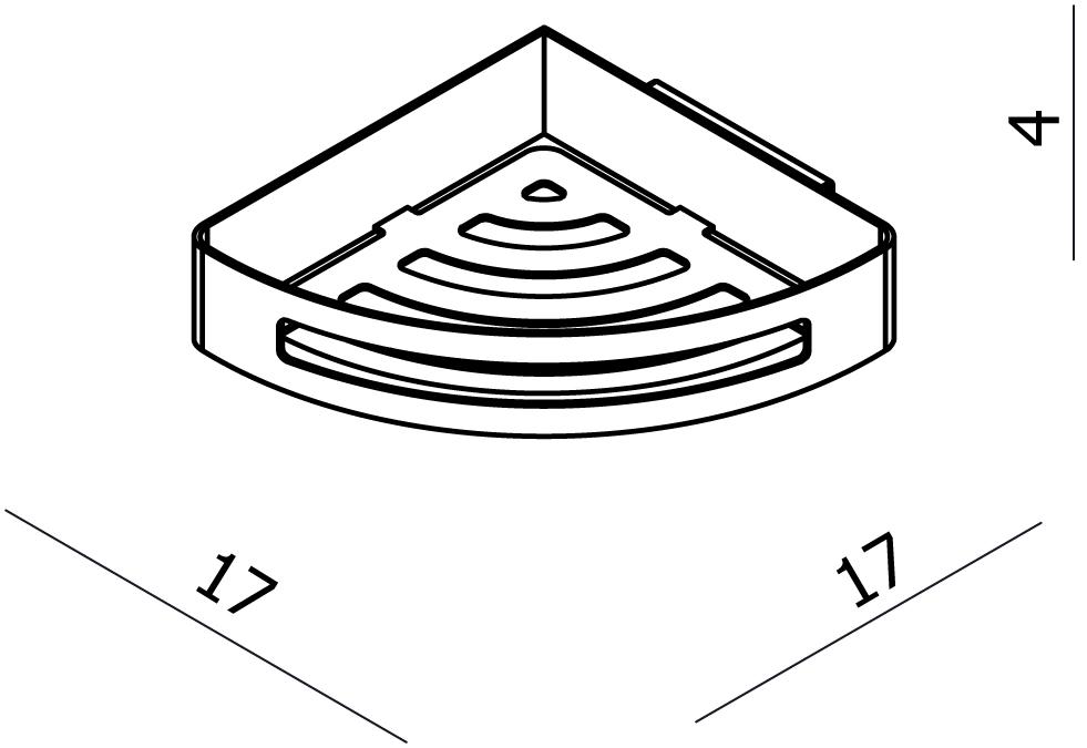 Universal Metal Corner Shower Basket