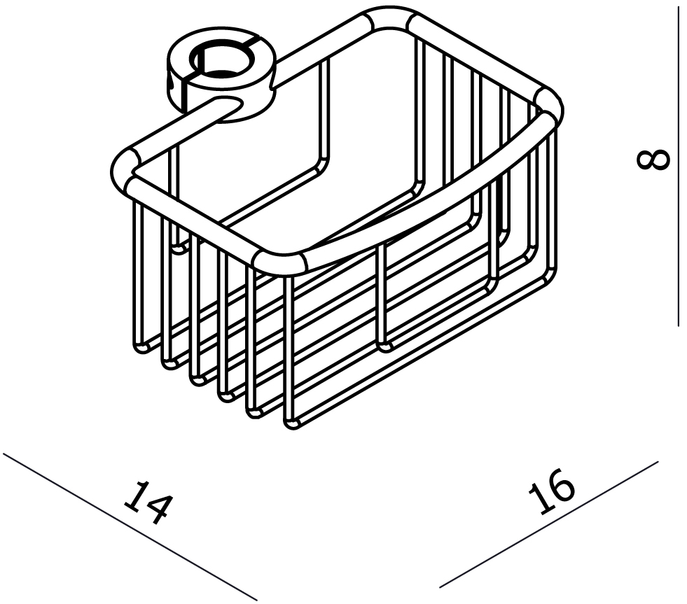 Universal Shower Rail Basket
