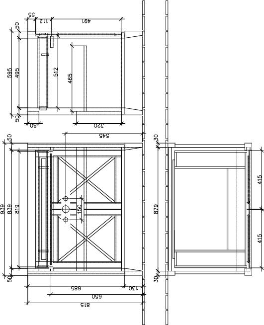 Hommage Cabinet 985 Gloss White 2 Door