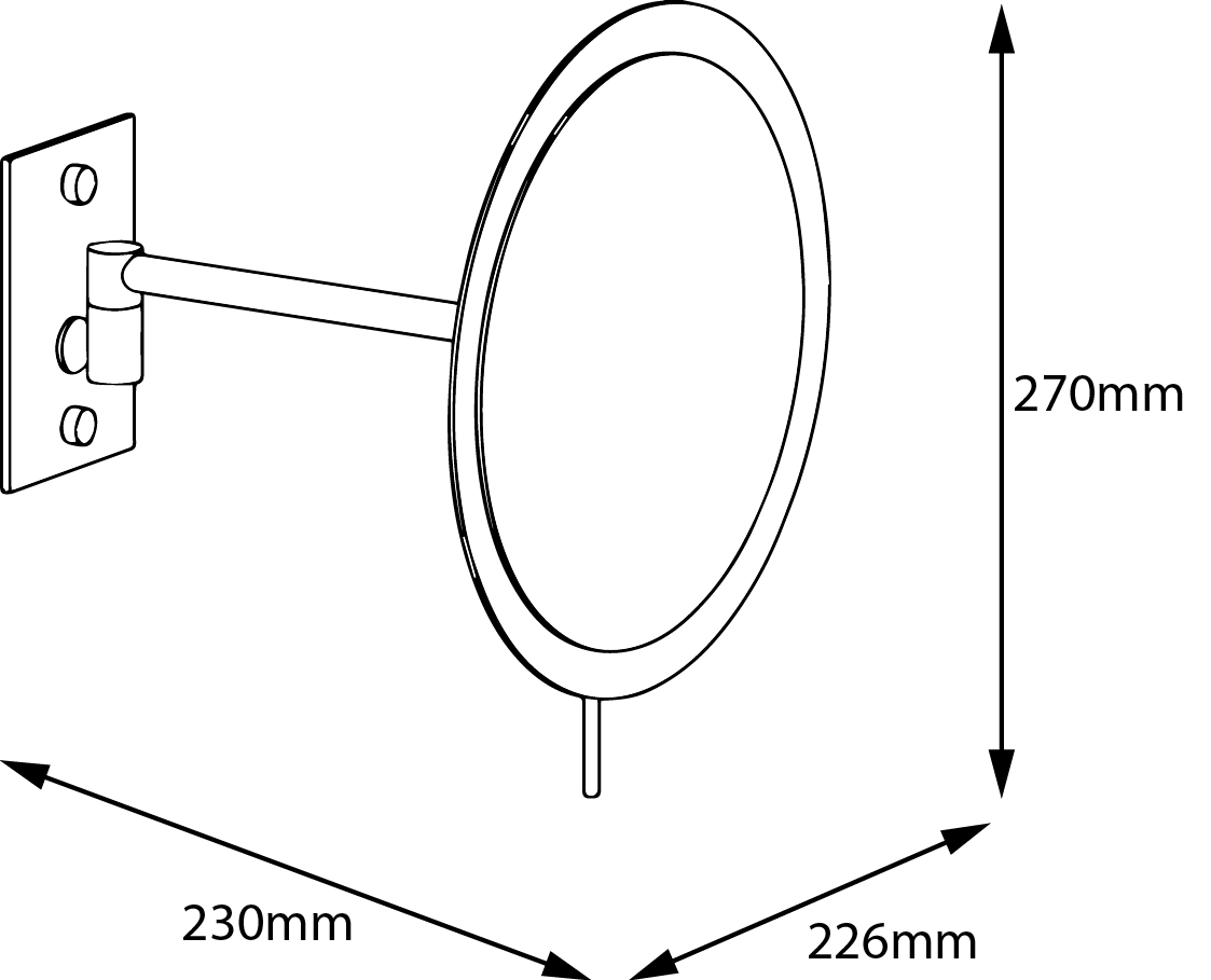 Magnify Mirror Wall Mounted Circle