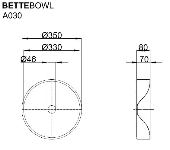 BetteBowl Round Counter Top Basin
