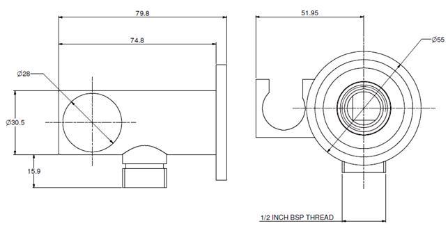 Adjustable Wall Bracket & Union