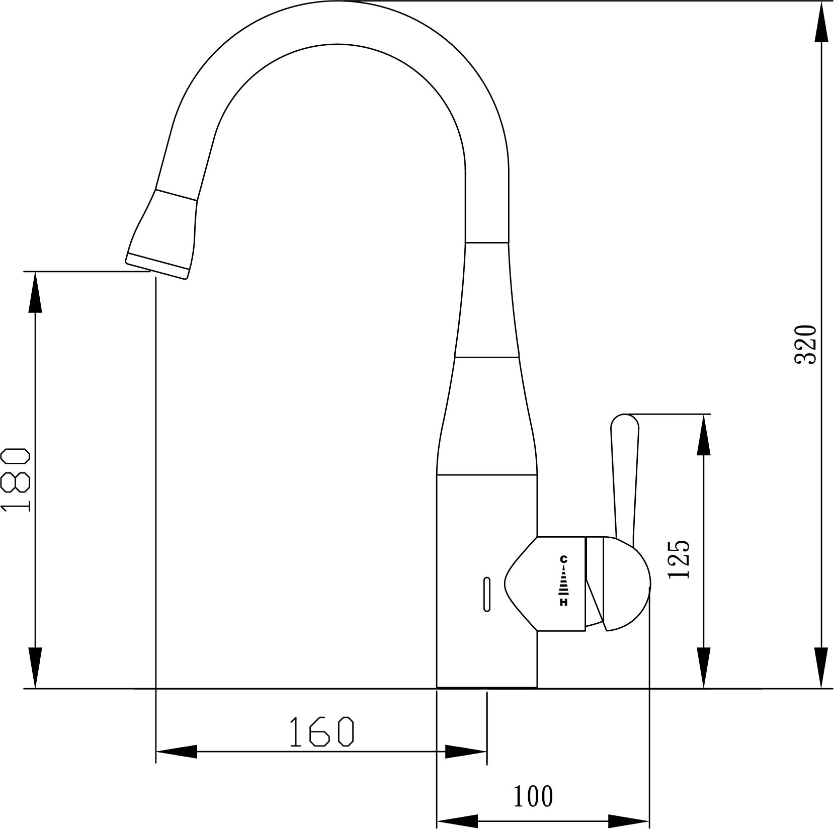 Aqualogic Ozone Gooseneck Mixer