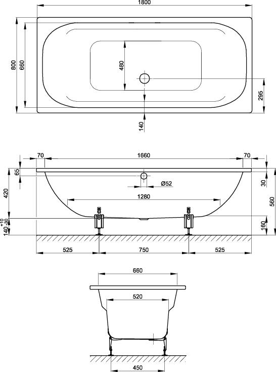 BetteDuo 1800 Spa Bath