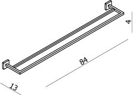 Line Double Towel Rail 800