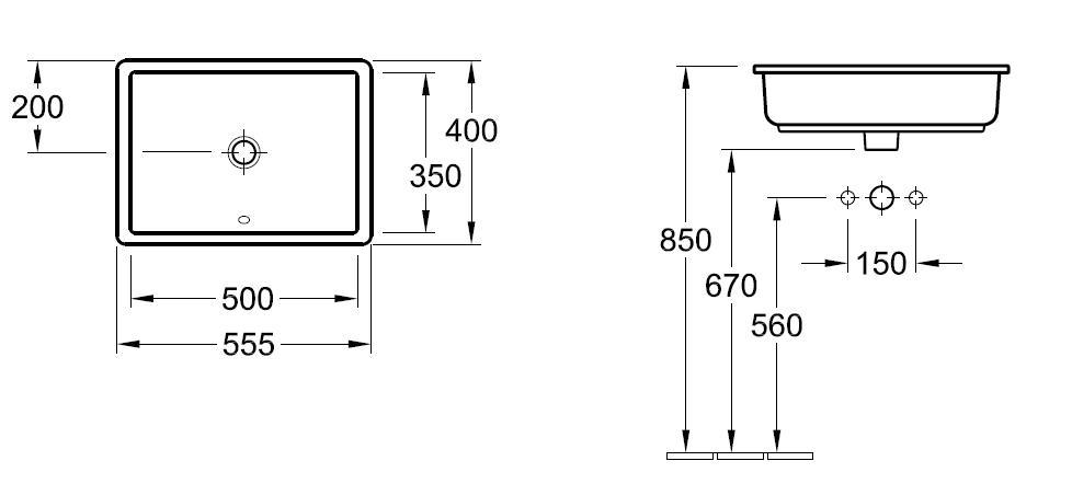 Architectura Under-Counter Basin