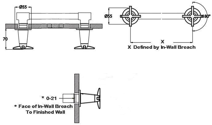 HansaTwist Wall Stops (Pair)