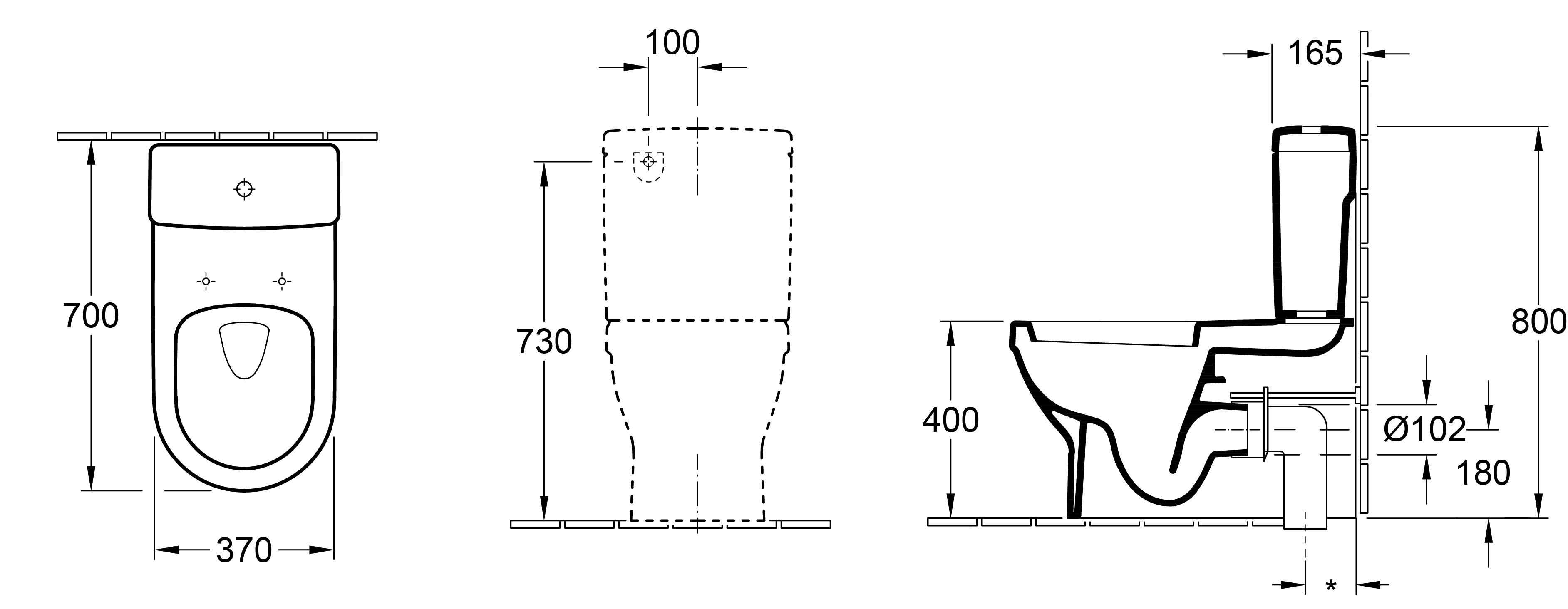 Architectura D BTW Toilet Suite