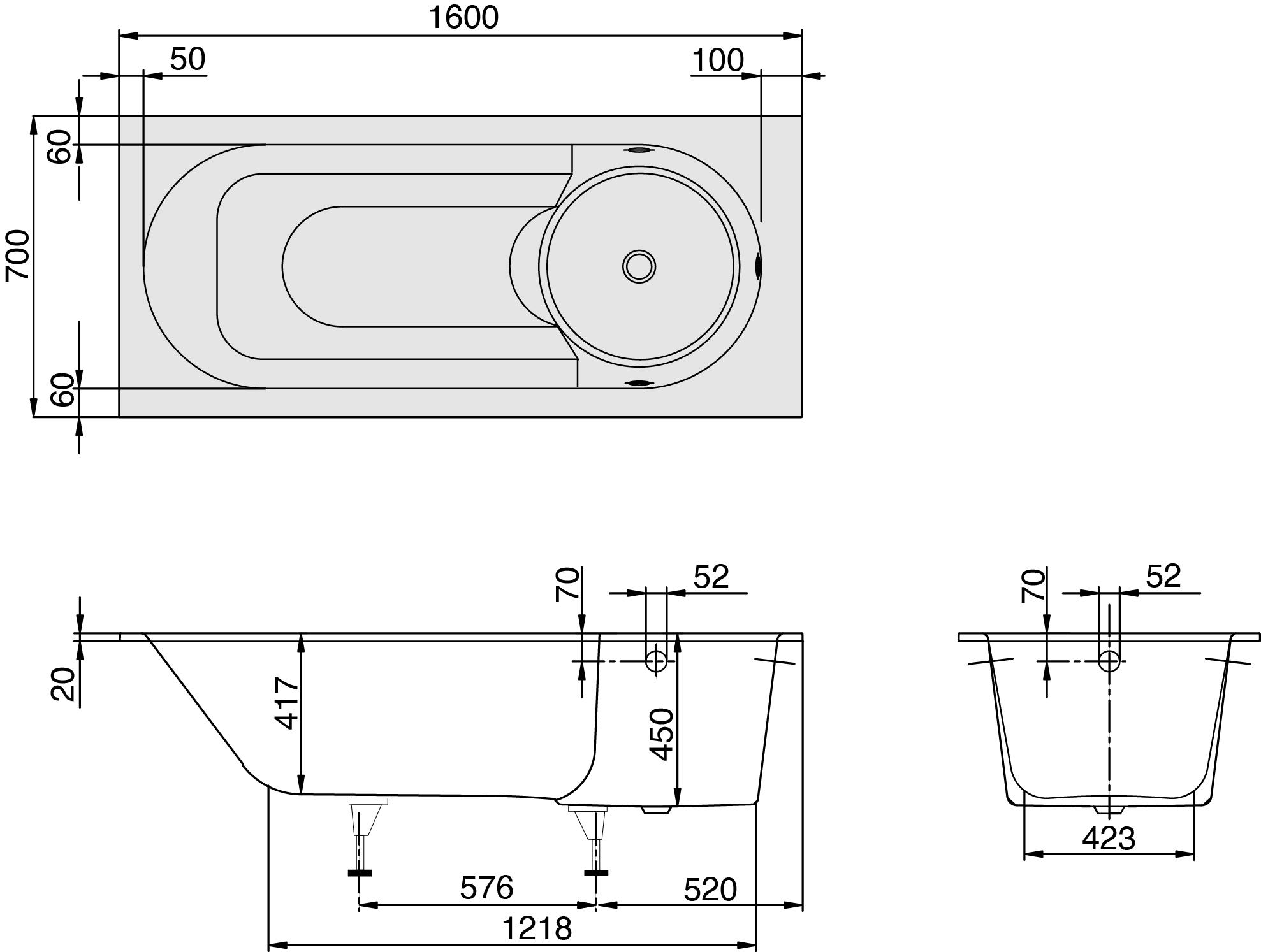 Oberon Whisper Whirlpool 1600 & 1700