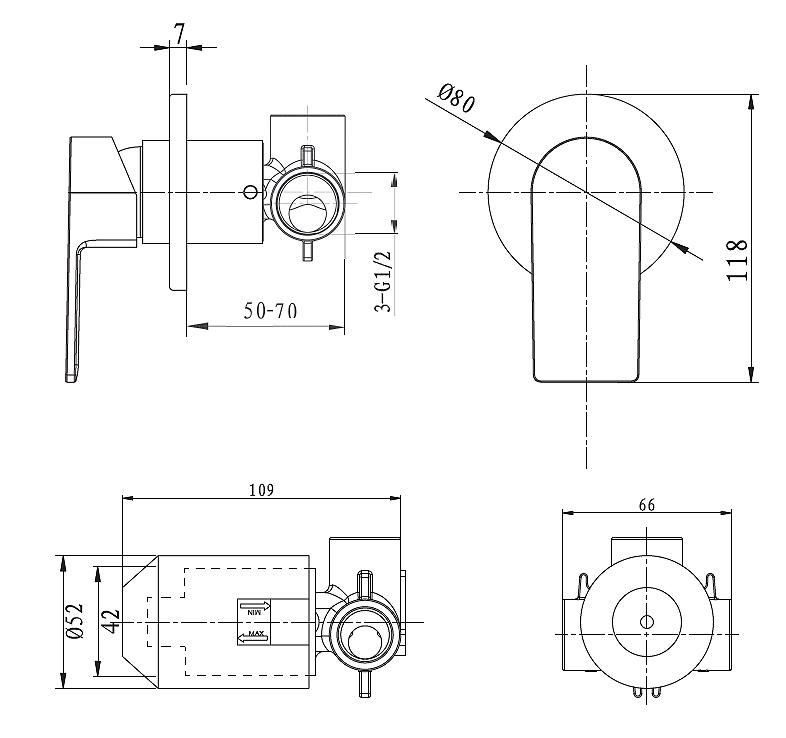 Evoke Round Shower Mixer