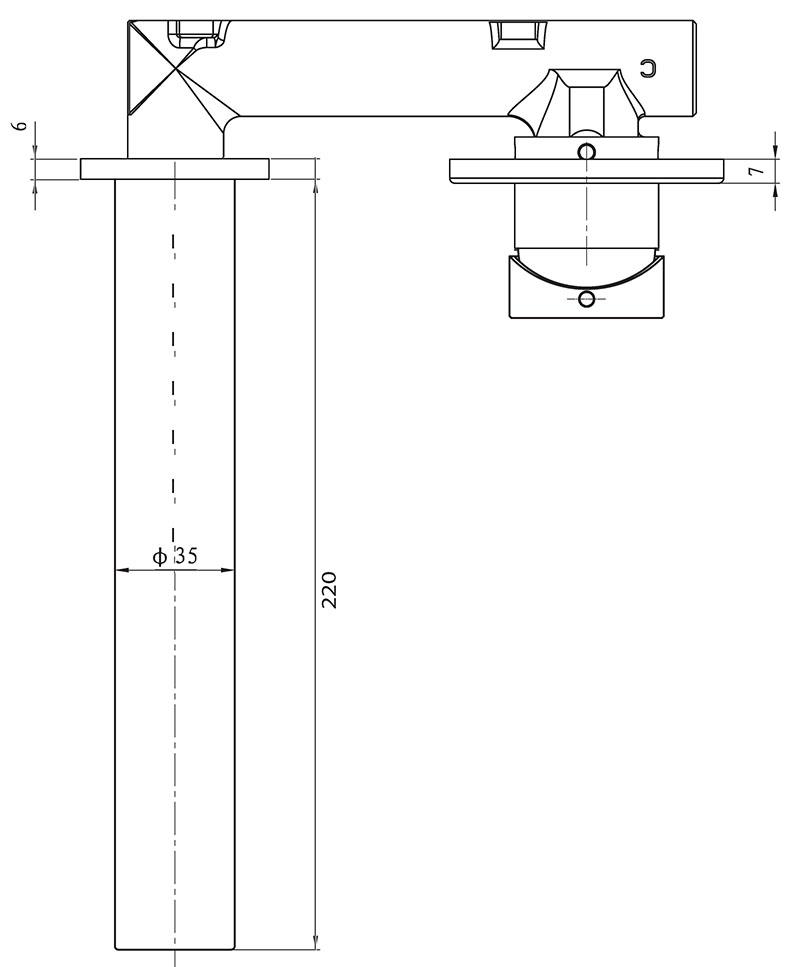Flow Wall-Mounted Basin Mixer