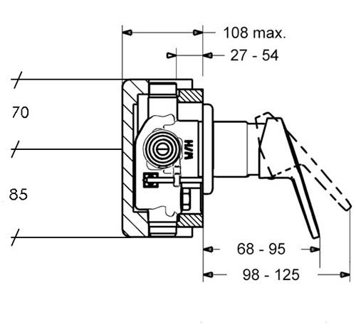 HansaPrado Shower Mixer Trim