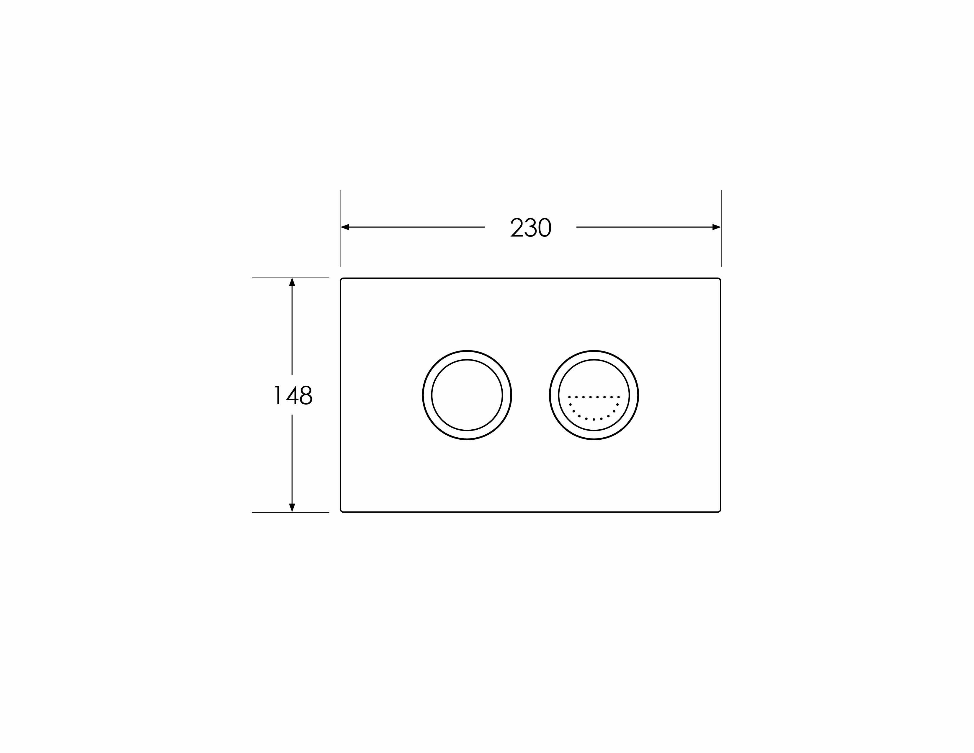 Focus Comfort Round Flush Button - Dual Flushplate