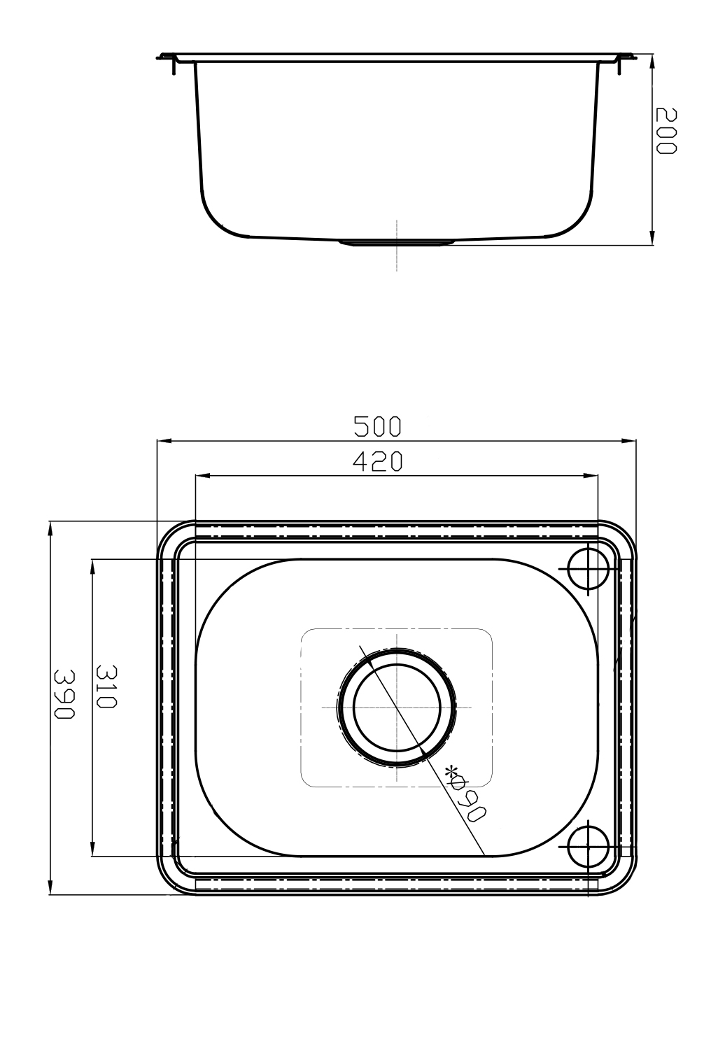 Line Art Ks : Format litre laundry tub sinks argent