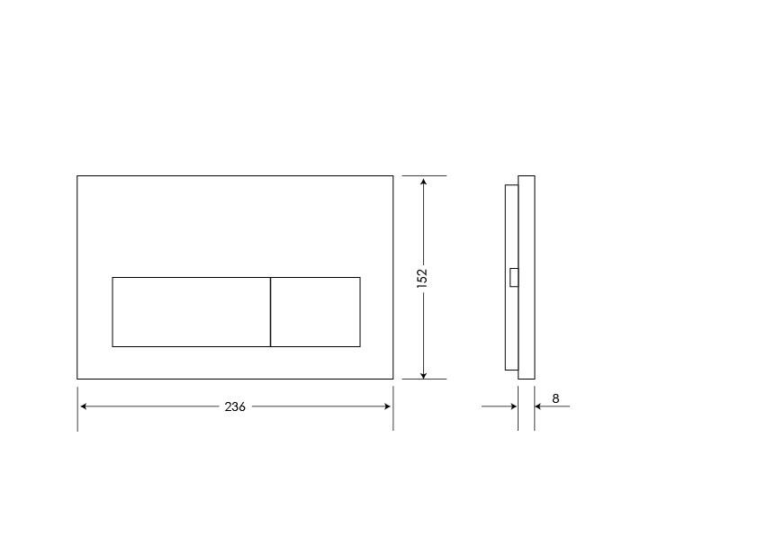 Kubic Flushplate - Dual Flushplate