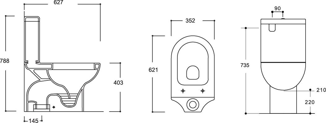 Mode Close Coupled Toilet Suite S-Trap