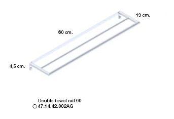 Micra Double Towel Rail 600mm