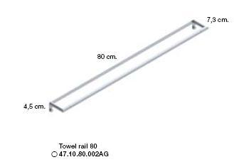 Micra Towel Rail 800mm