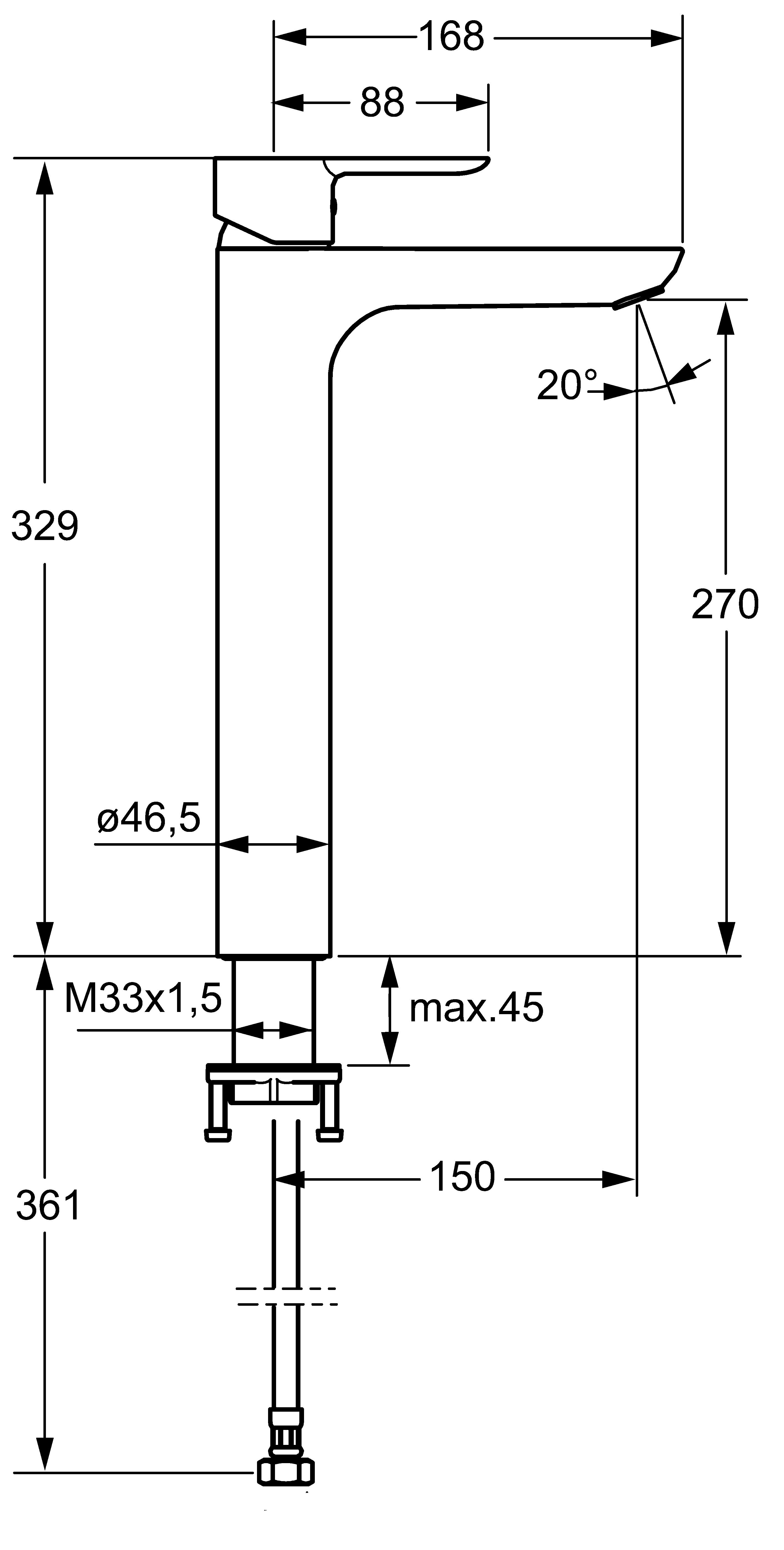 HansaLigna Vessel Basin Mixer