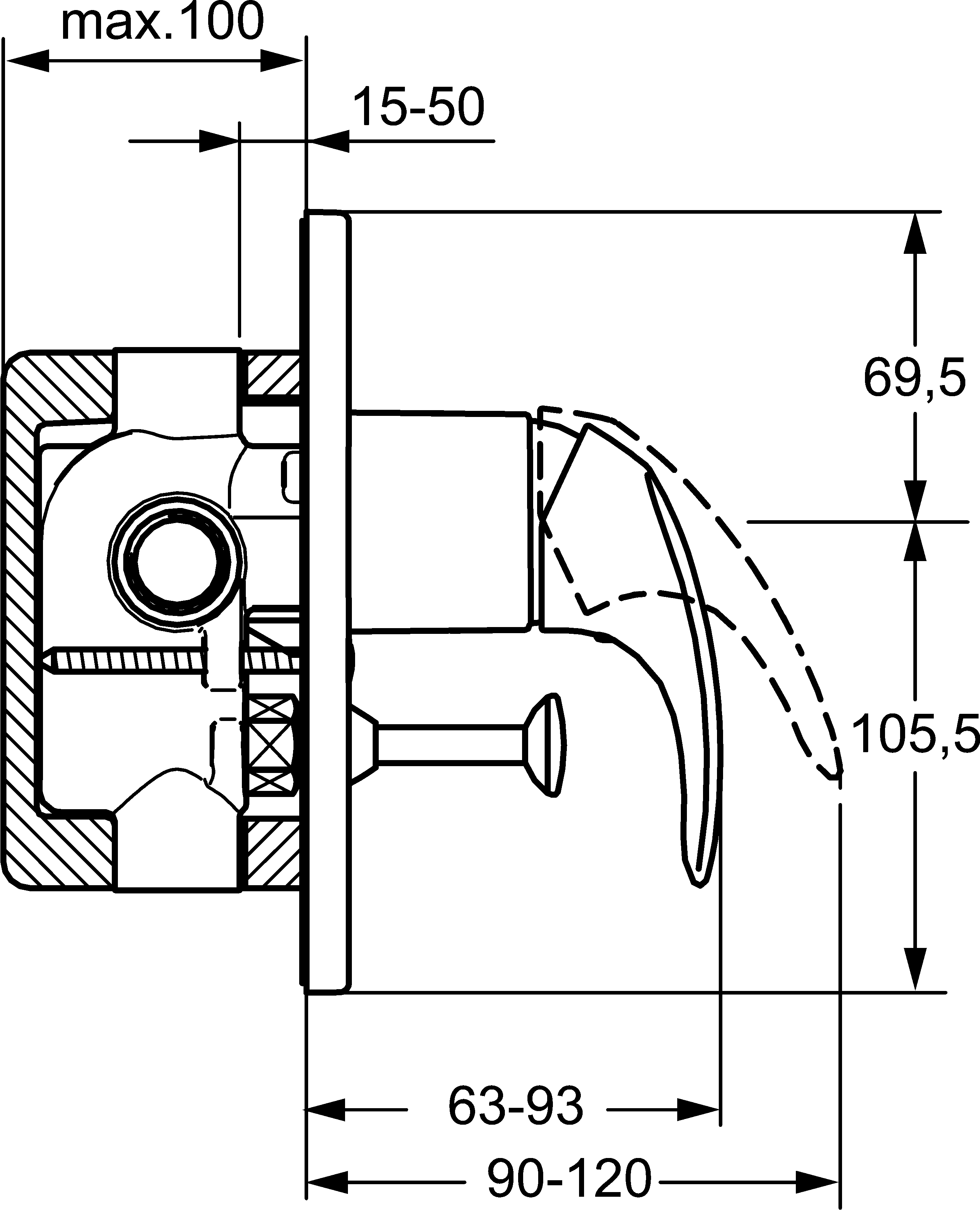 HansaPolo Diverter Mixer