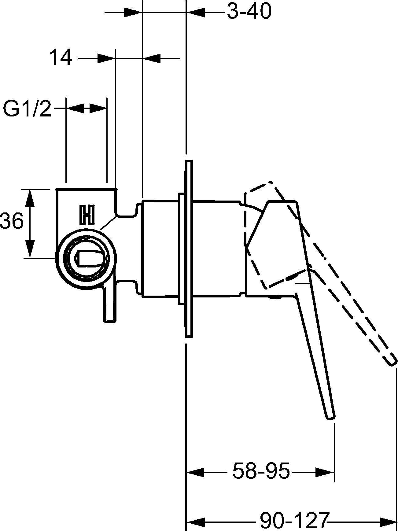 HansaTwist Loop Shower Mixer