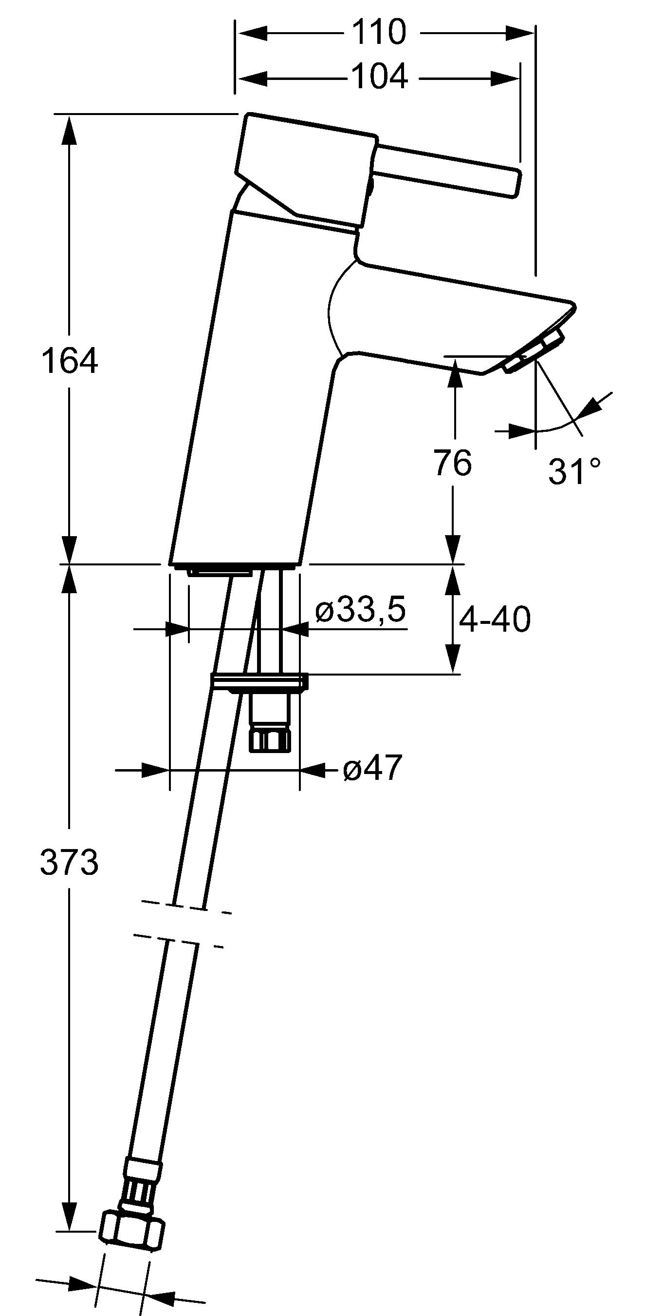 HansaVantis Pin XL Basin Mixer