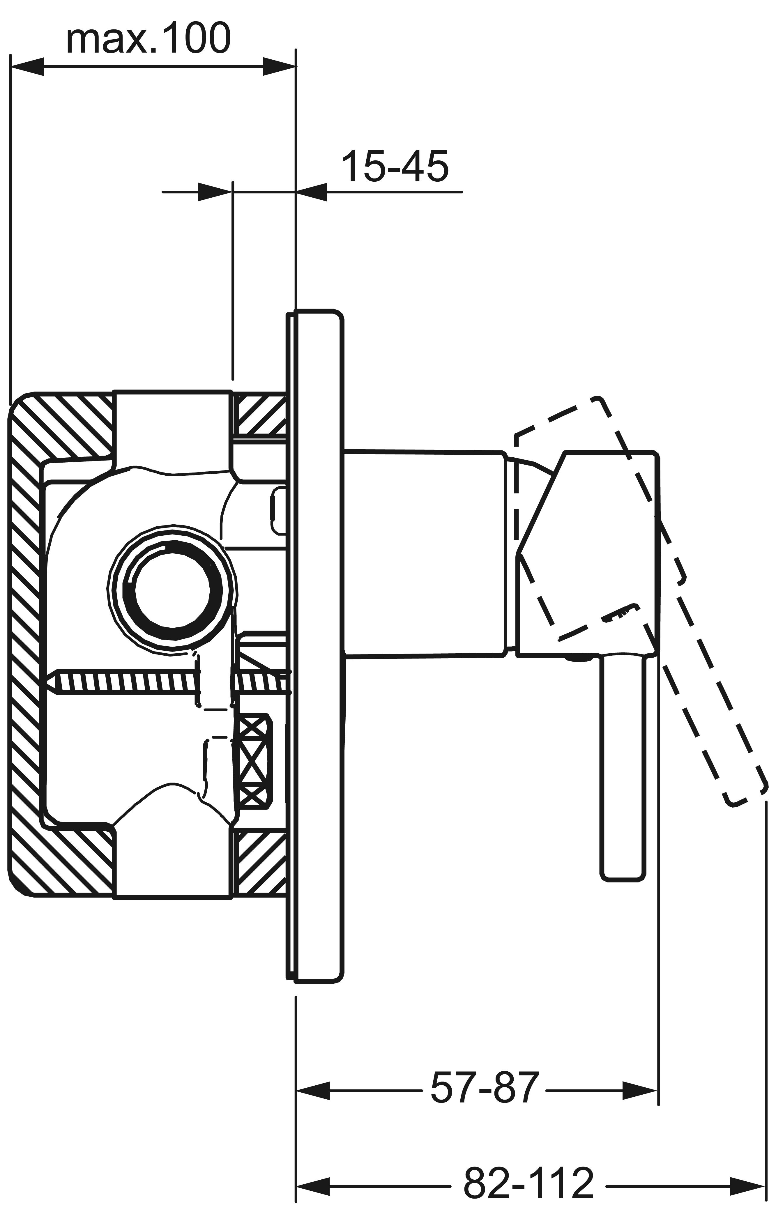 HansaTwist Loop Oval Diverter Mixer