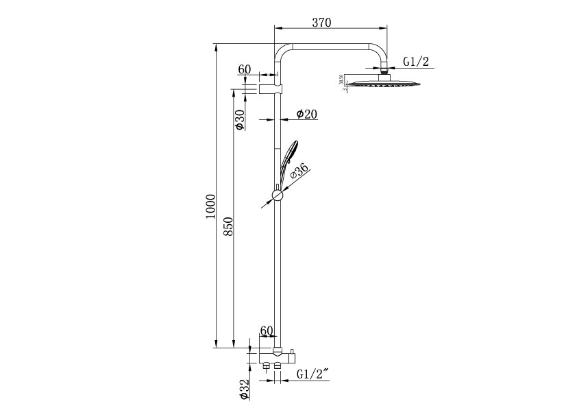Metro Twin Hose Shower System