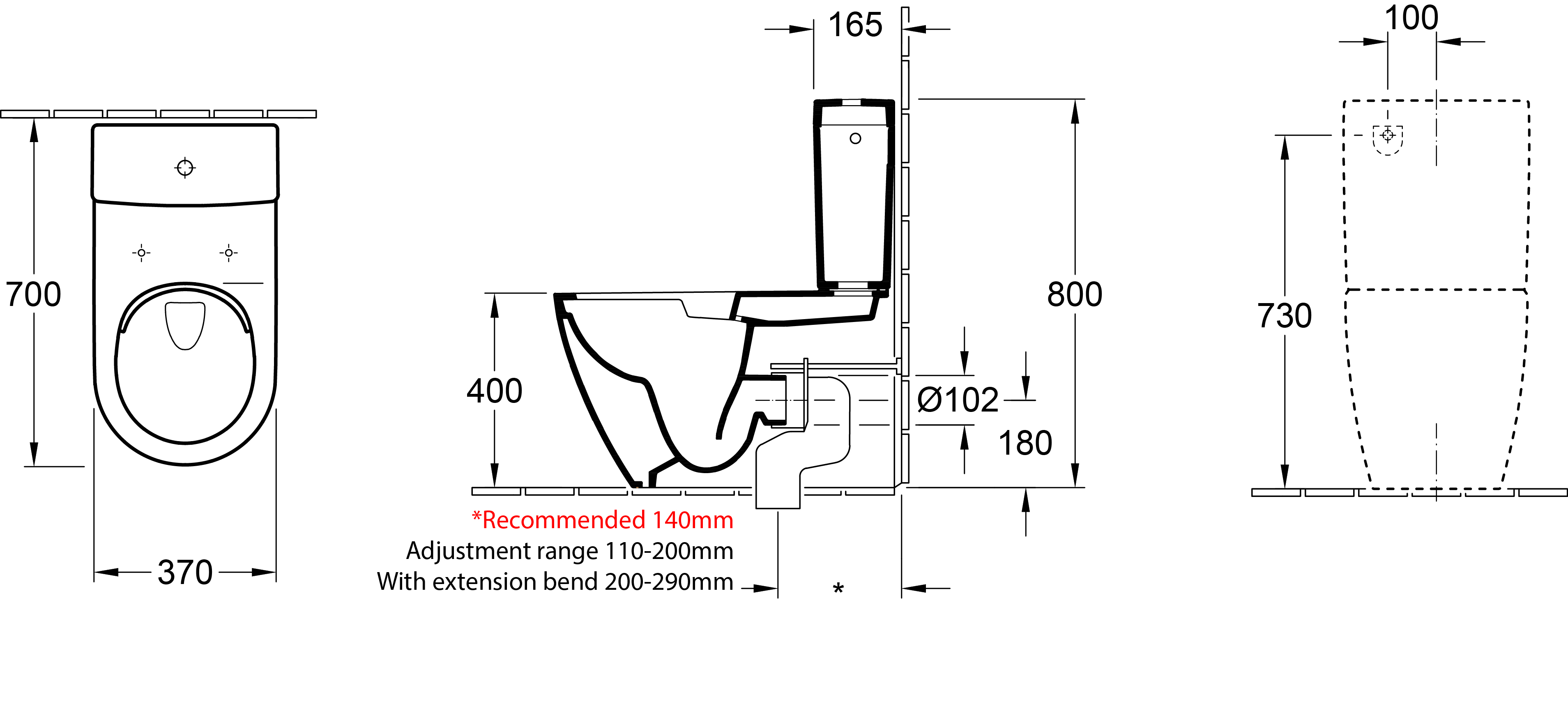 Subway 2.0 Back-To-Wall Toilet Suite