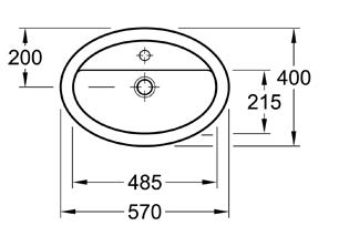 Loop Oval Under-Counter Basin 450x320mm