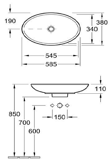 Loop Vessel Basin - Oval Low Profile