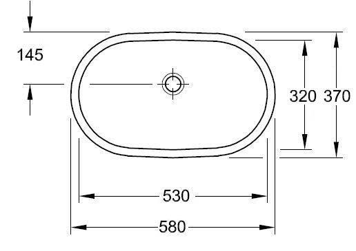 O.novo 580x370mm Under-Counter Basin