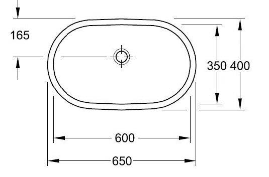 O.novo 650x400mm Under-Counter Basin