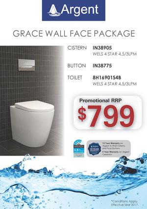 Argent Grace WF Toilet Package PRRP