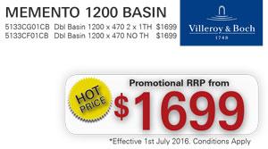 V&B Memento 1200 Basin PRRP