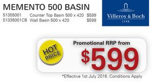 V&B Memento 500 Basin PRRP