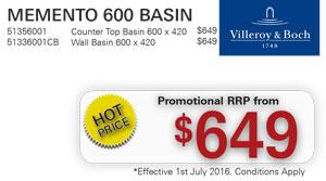 V&B Memento 600 Basin PRRP