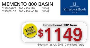 V&B Memento 800 Basin PRRP