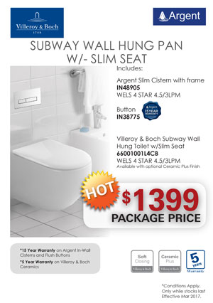 V&B SUBWAY WH Slim Seat Toilet PRRP