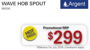 Argent Wave Hob Spout PRRP